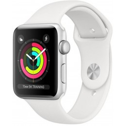 Apple Watch Series 3 42mm Silver Aluminium Case with White Sport Band (MTF22)