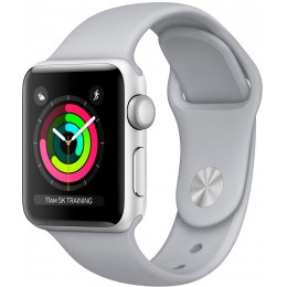 Apple Watch Series 3 38mm Silver Aluminum Case with Fog Sport Band (MQKU2)